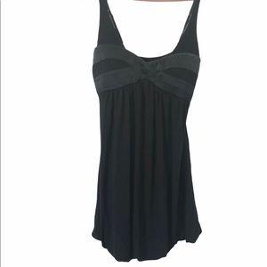 Bebe Black Mini Bubble Dress, Size M